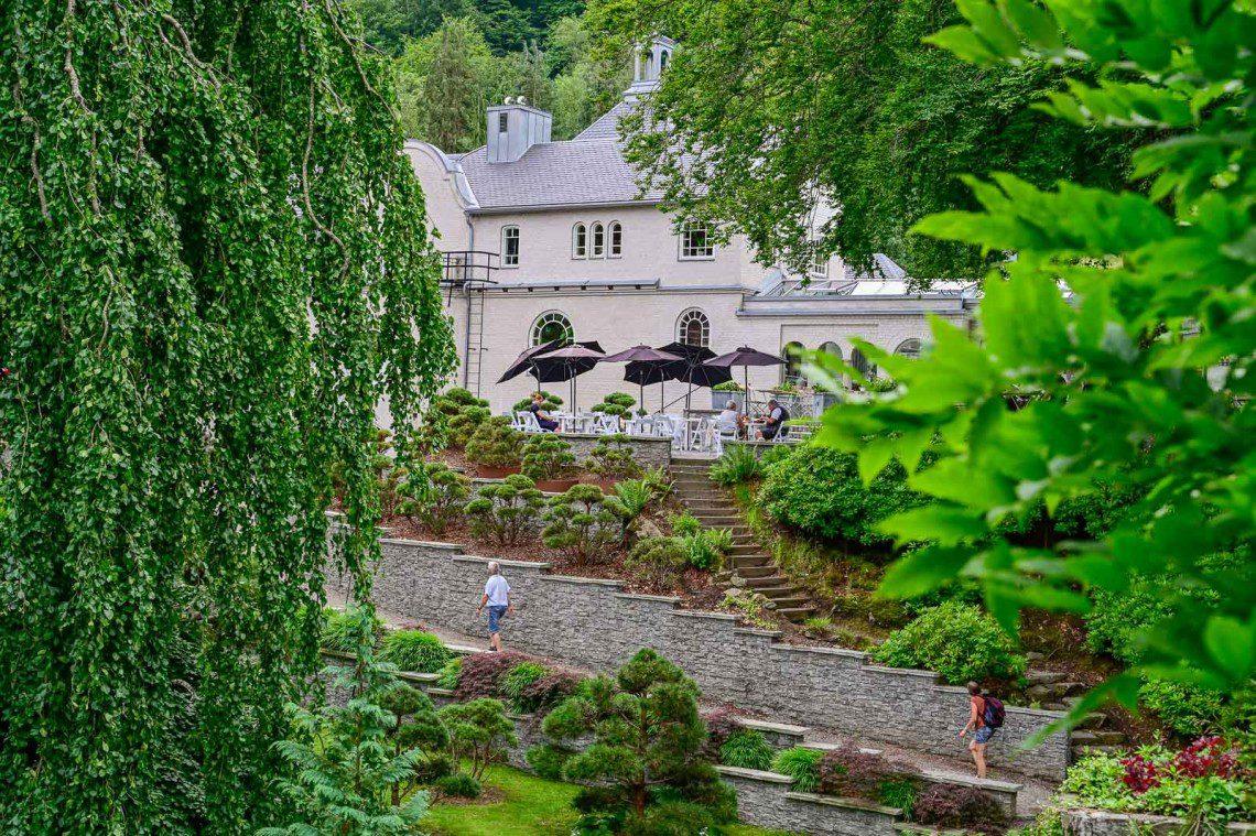 Huset i Norrvikens trädgårdar sett från ovan