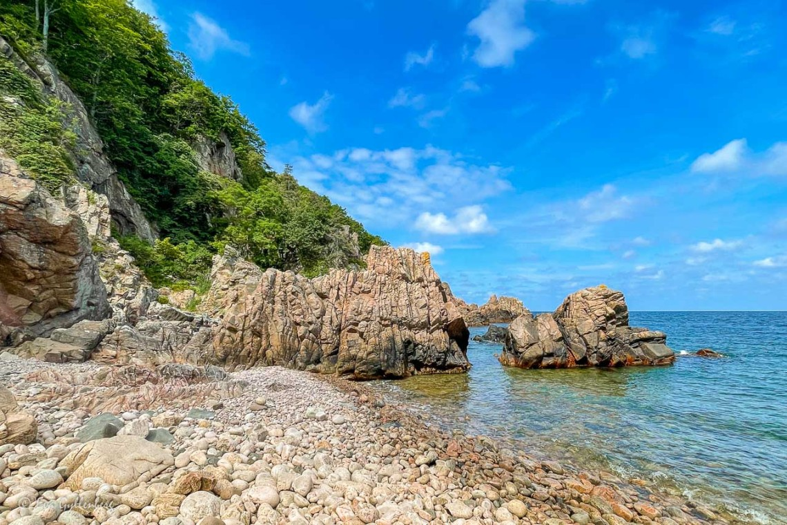 Havet har format klipporna vid Josefinelust