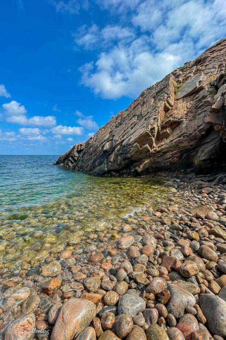 Turkost hav vid stranden vid Josefinelust